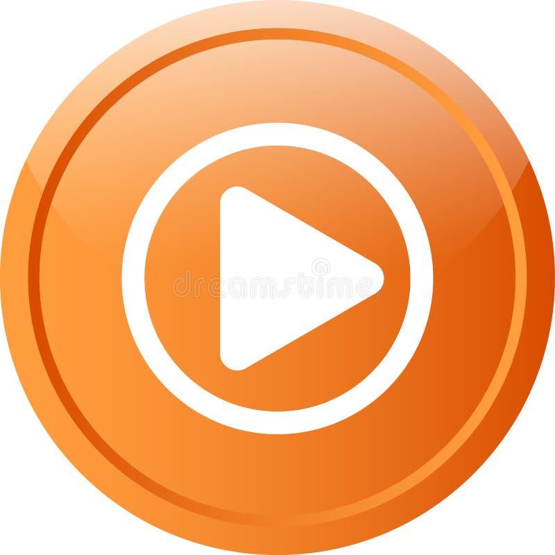 头等录影网按钮 向量例证