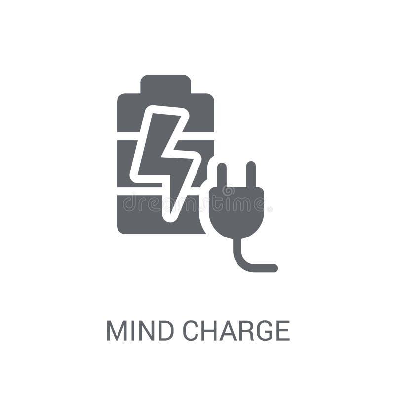 头脑充电象 在白色backg的时髦头脑充电商标概念 向量例证