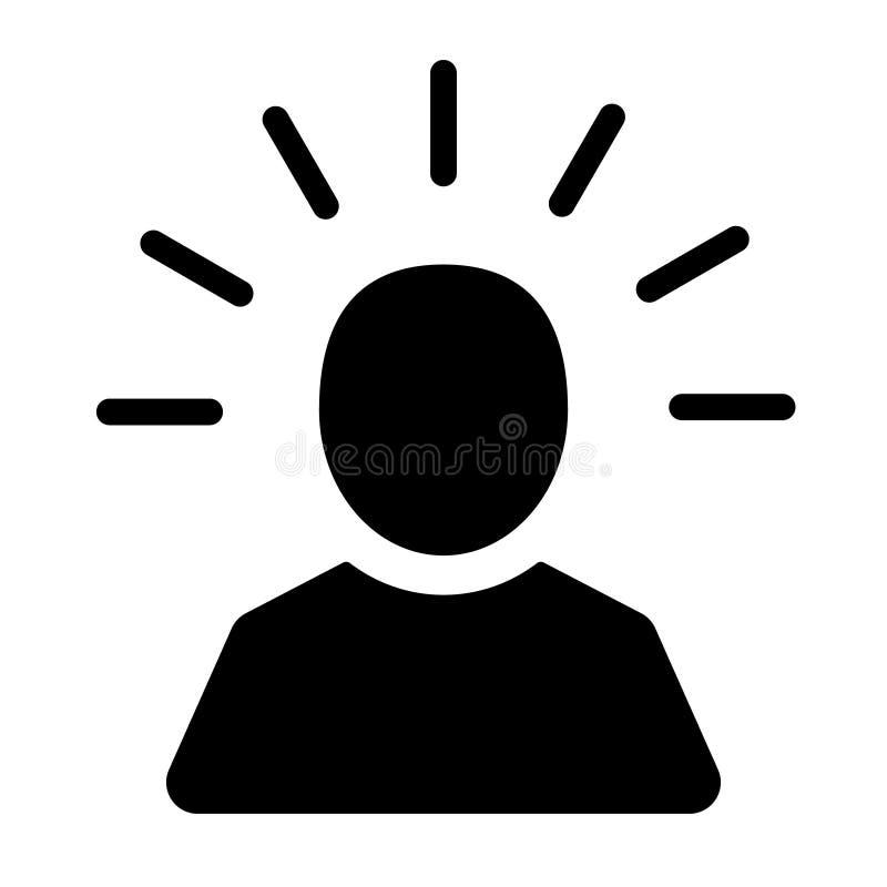 头脑在平的样式的人象 在白色被隔绝的背景的人的失望传染媒介例证 介意认为企业概念 向量例证
