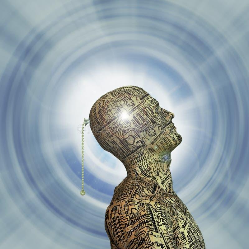 头脑技术 向量例证