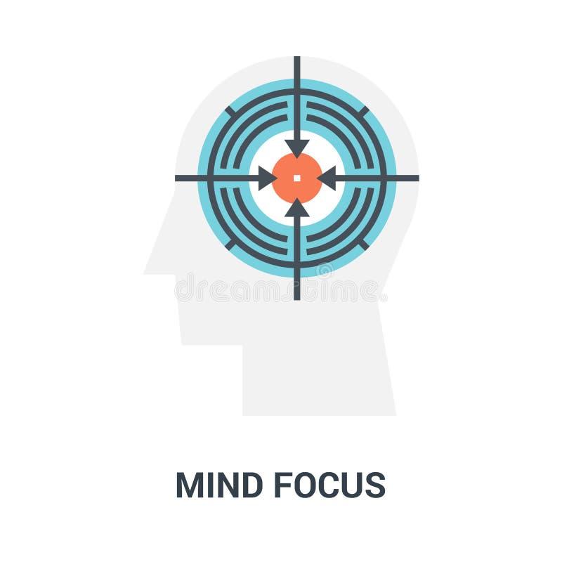 头脑焦点象概念 皇族释放例证