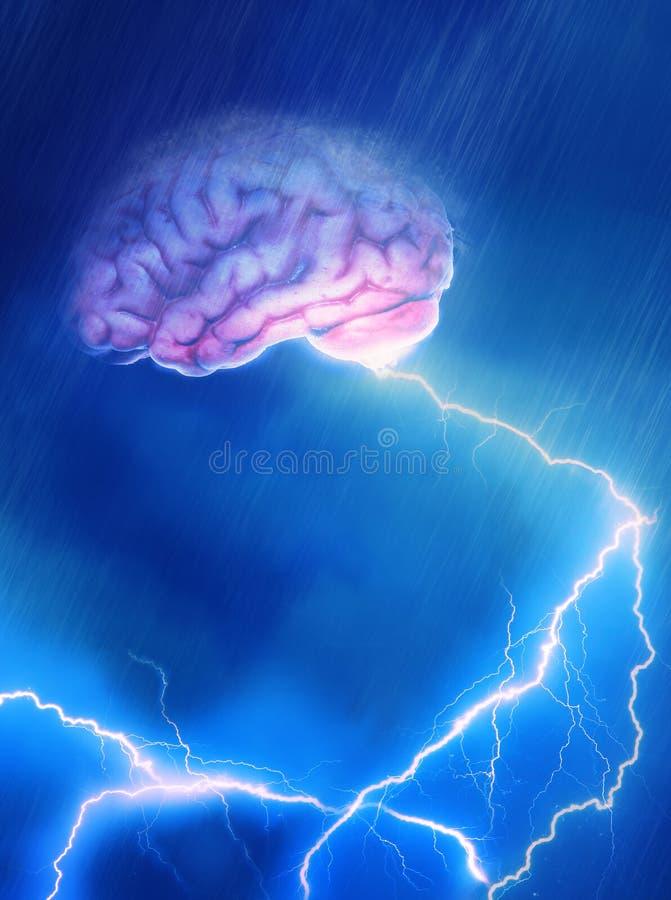 头脑狂热 向量例证