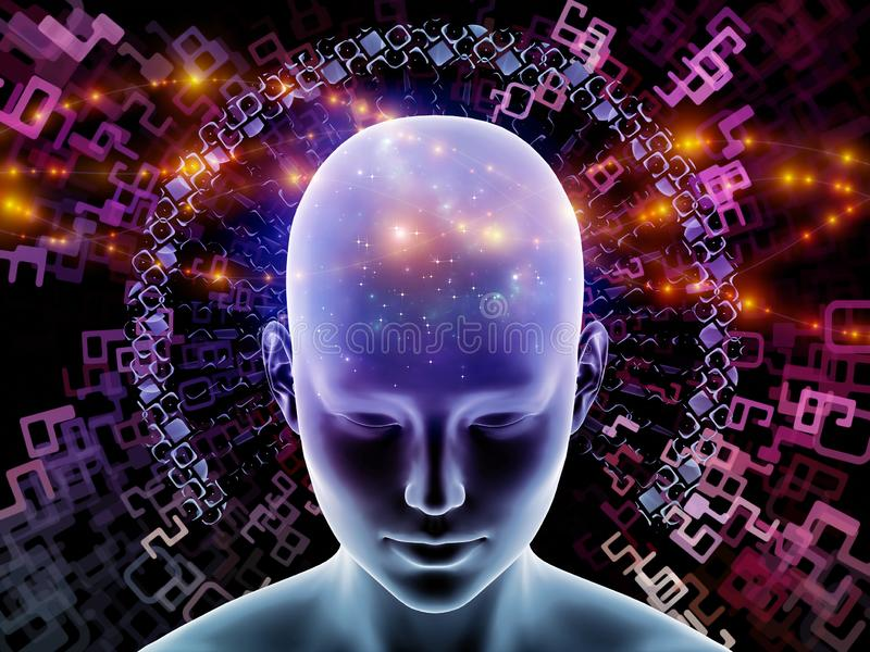 头脑连接 向量例证