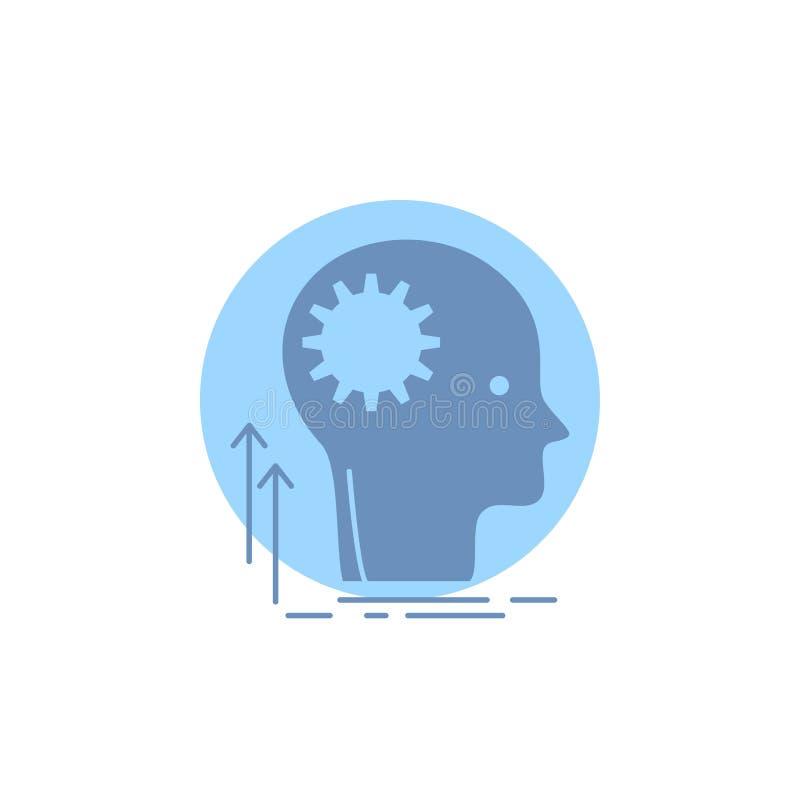 头脑,创造性,认为,想法,群策群力纵的沟纹象 向量例证