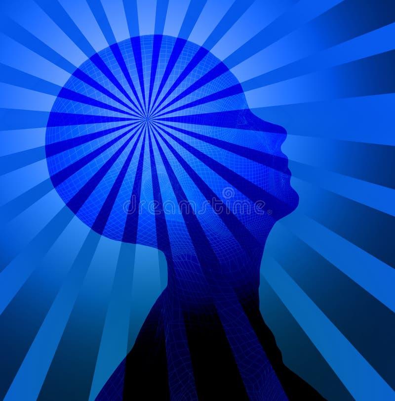 头脑 向量例证