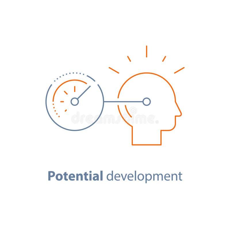 头行象,潜在的发展概念,个人成长 库存例证