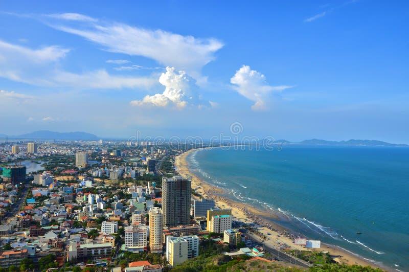 头顿市,越南鸟瞰图  图库摄影