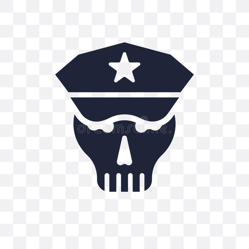 头骨军队透明象 头骨军队从军队的标志设计 库存例证
