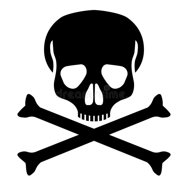 头骨和骨头图表象 皇族释放例证