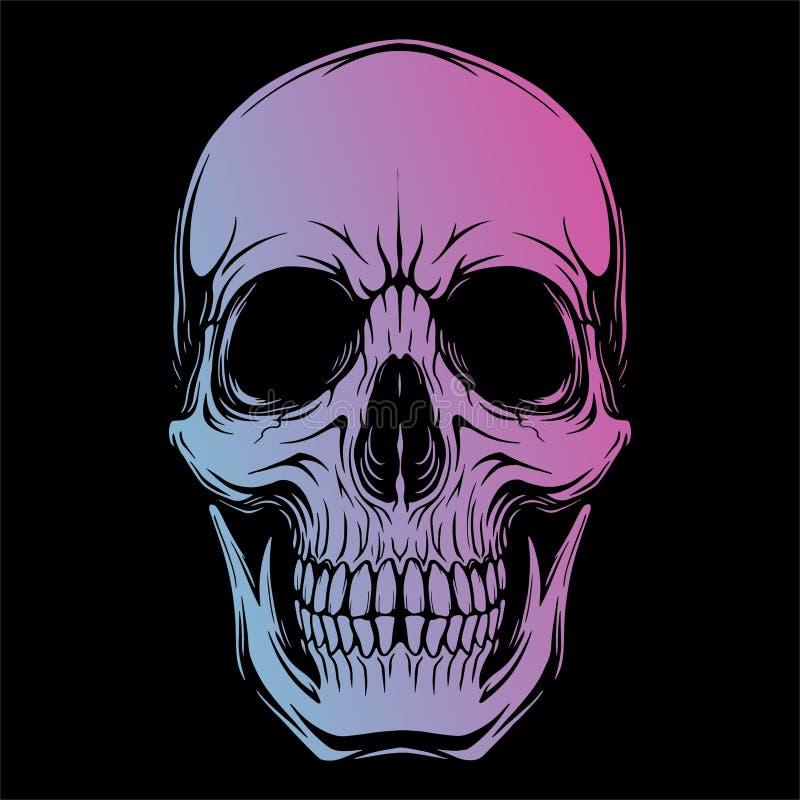 头骨头1传染媒介图象 向量例证