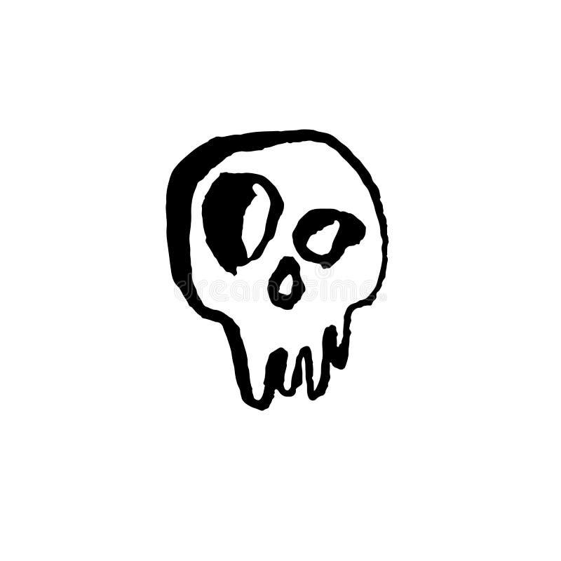 头骨象 难看的东西刷子被隔绝的骨骼 r 向量例证