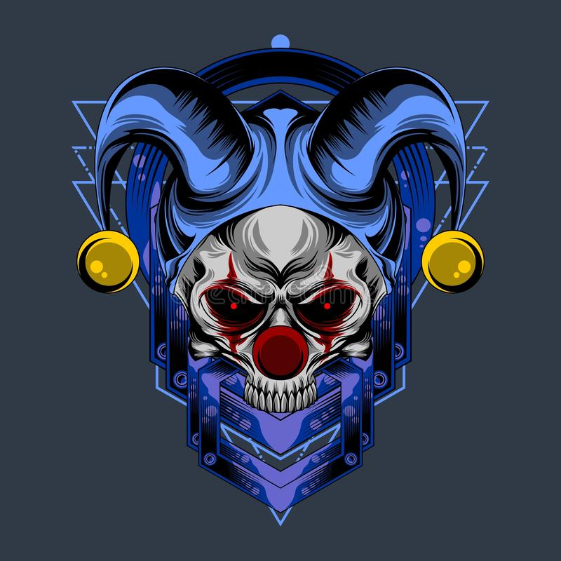 头骨面孔小丑 皇族释放例证