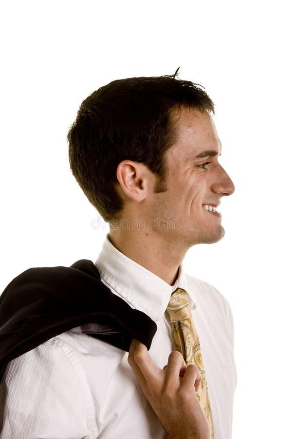 夹克人肩膀端年轻人 免版税库存照片