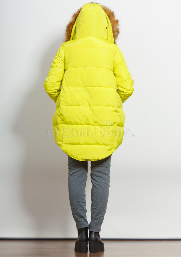 夹克的时尚女孩 库存图片