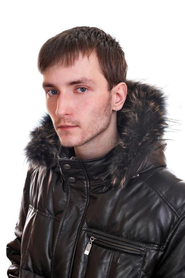 夹克皮革人年轻人 免版税库存照片