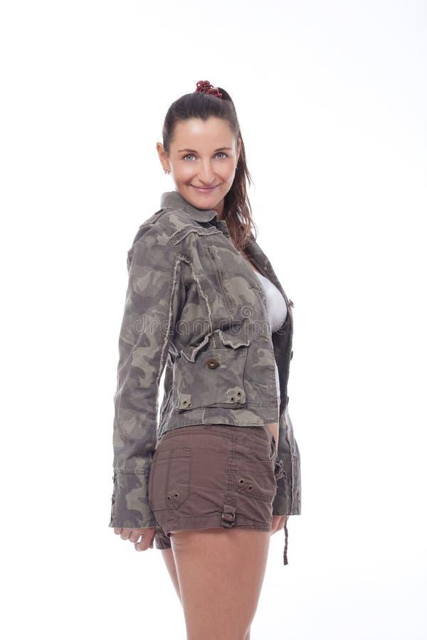 夹克短缺妇女 免版税图库摄影