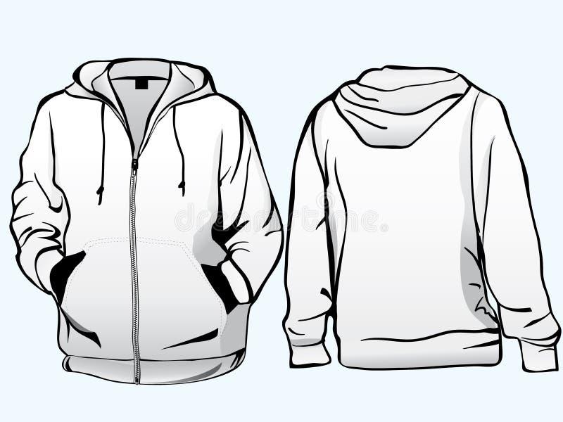 夹克运动衫模板 库存例证