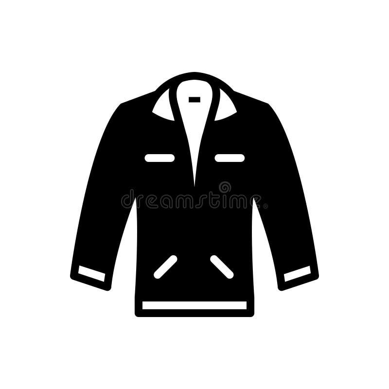 夹克,涂层和时兴的黑坚实象 向量例证