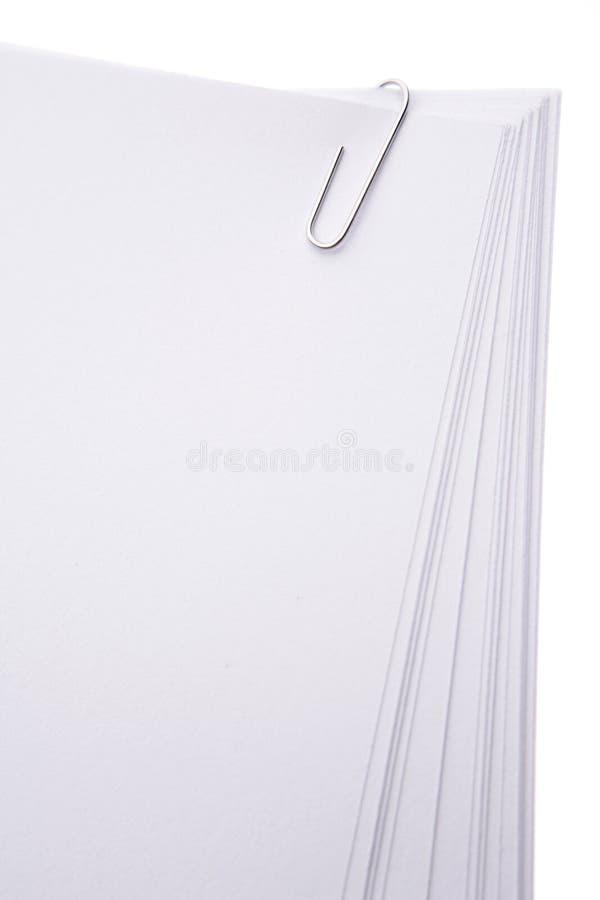 夹子纸张 免版税库存图片