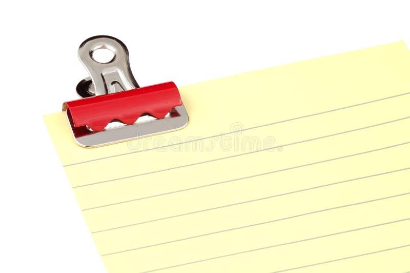 夹子纸张 免版税库存照片