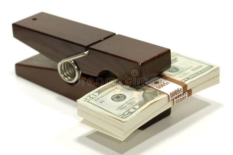 夹子货币 免版税库存图片