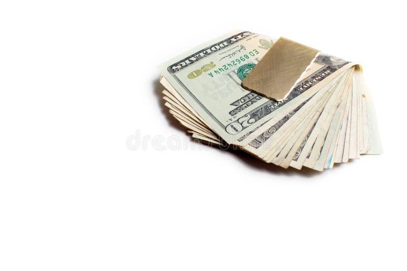 夹子货币 免版税库存照片