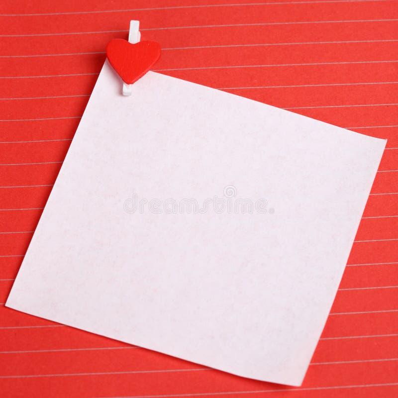 夹子重点纸张形状白色 库存图片