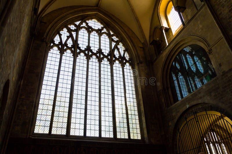 奇切斯特大教堂的建筑细节,三位一体的大教堂教会, 库存照片