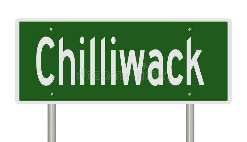 奇利瓦克的不列颠哥伦比亚省高速公路标志 向量例证
