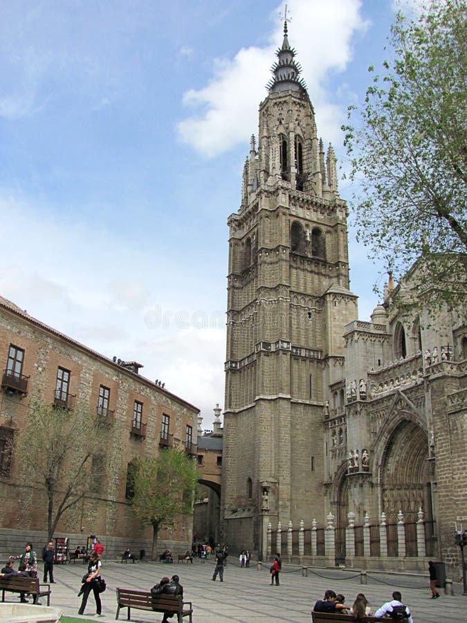 奇妙市的哥特式样式大教堂托莱多 免版税图库摄影