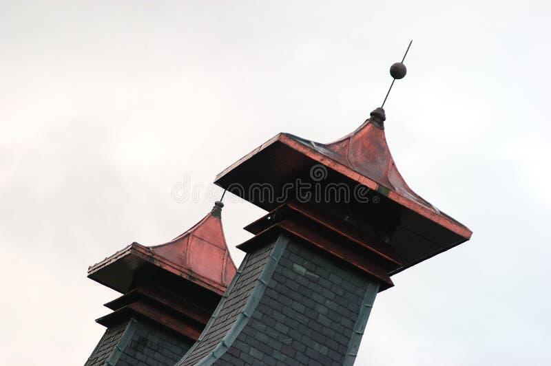 奇怪的塔 库存图片