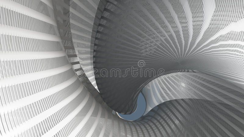 奇怪的打旋的结构 向量例证
