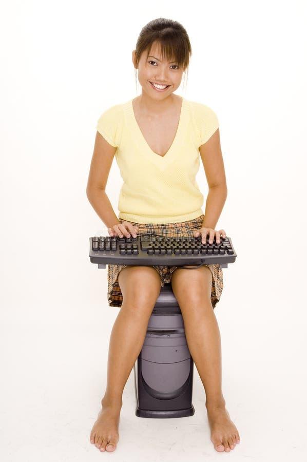 奇怪的膝上型计算机 免版税库存照片