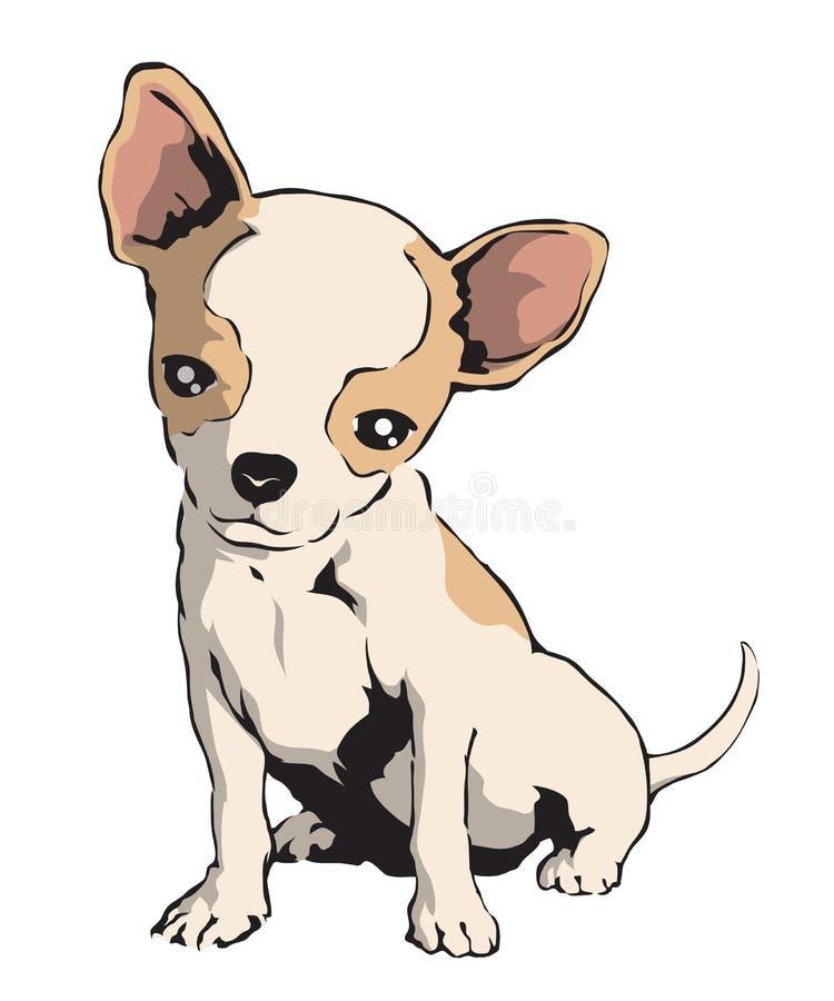 奇瓦瓦狗 向量例证