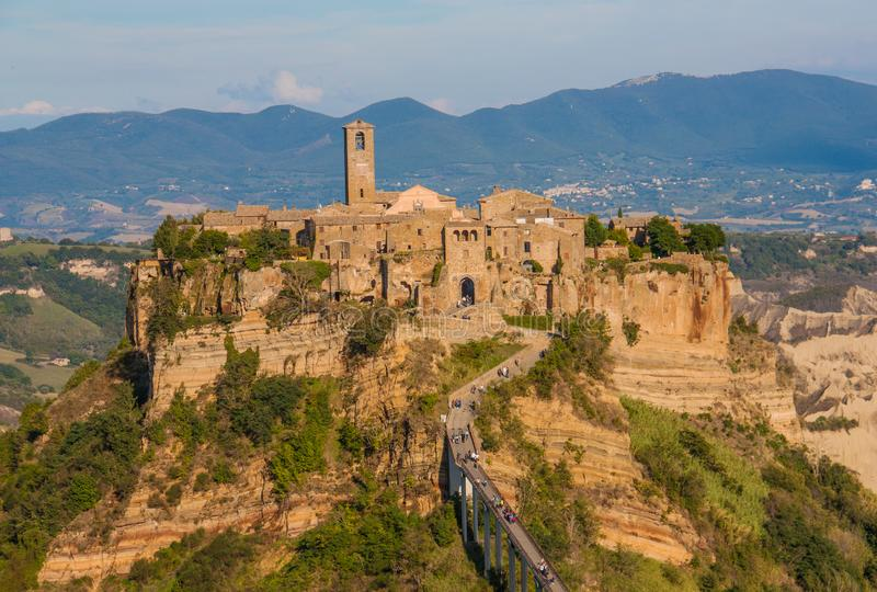 奇维塔二巴尼奥雷焦,死的镇 库存图片