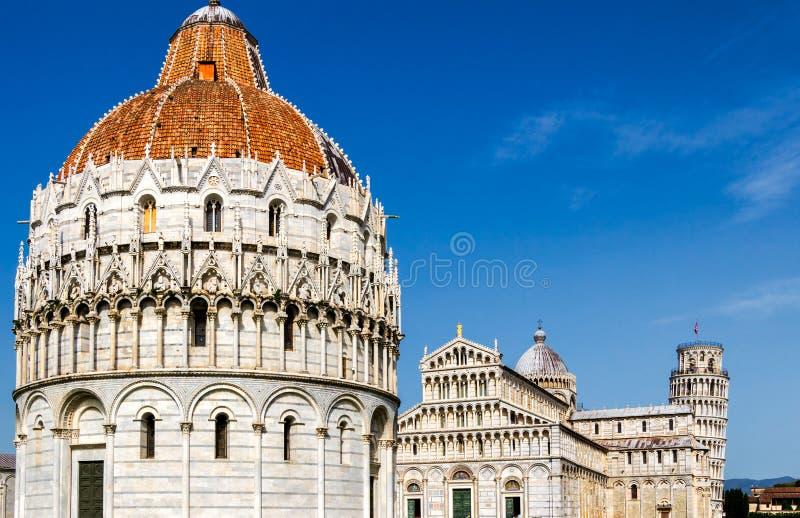 奇迹正方形的,托斯卡纳,意大利比萨大教堂 免版税图库摄影