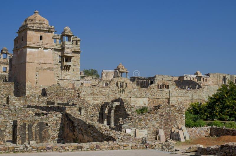 奇陶尔加尔一个古老堡垒在印度 图库摄影