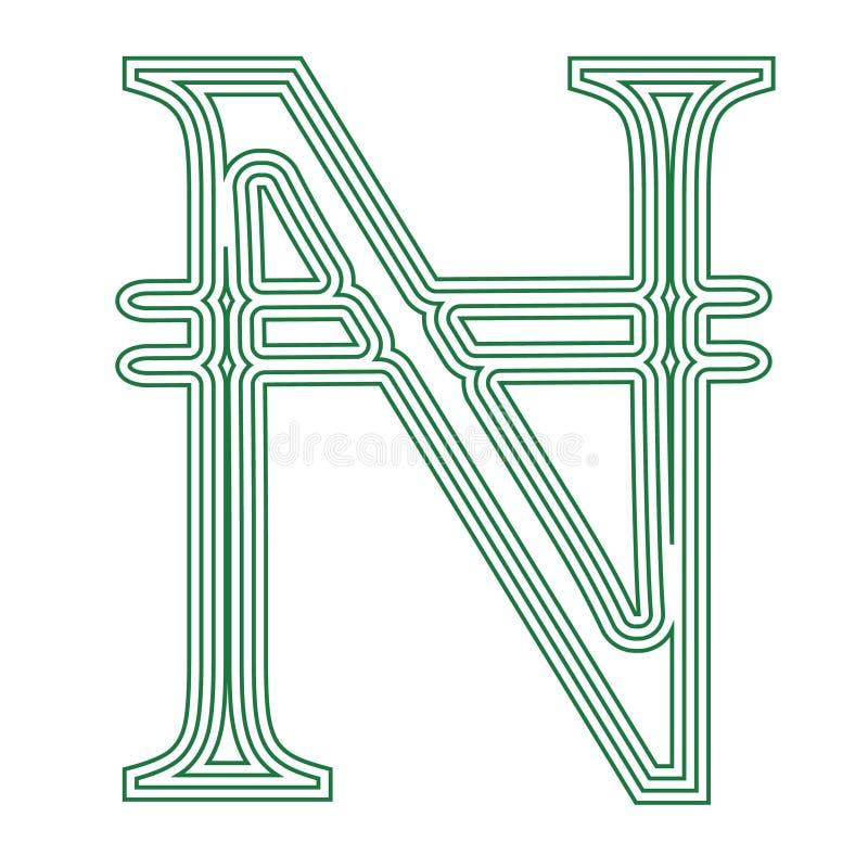 奈拉尼日利亚货币符号象镶边了传染媒介例证 皇族释放例证