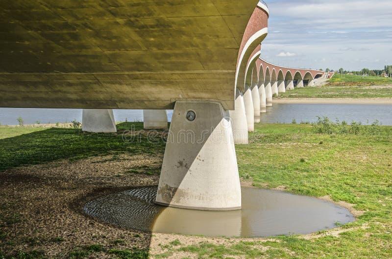 奈梅亨市桥梁和洪泛区 免版税库存照片