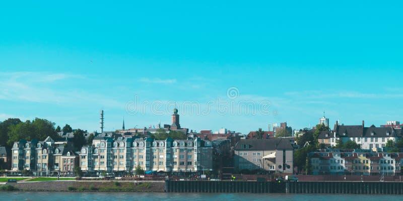 奈梅亨荷兰waal在奈梅亨前面荷兰  免版税库存图片