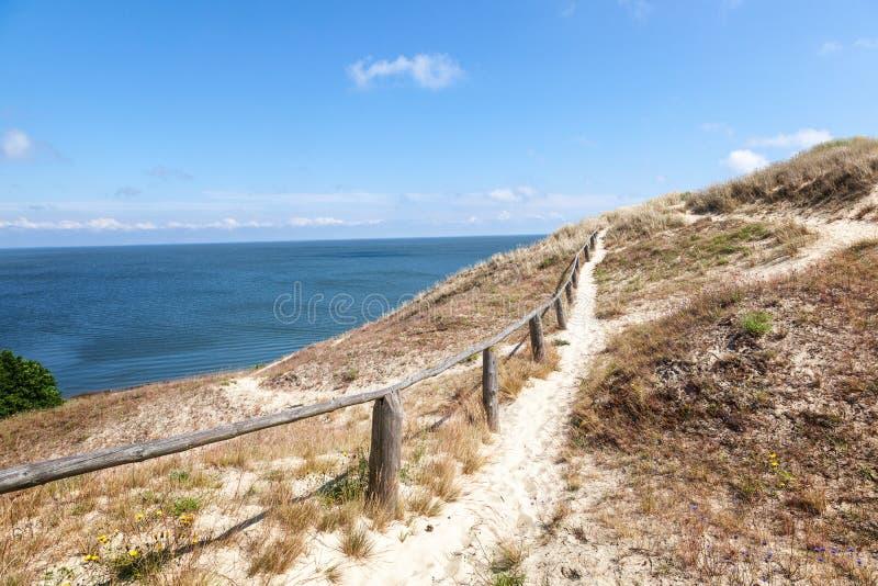 奈达-库尔斯沙嘴和Curonian盐水湖,奈达,克莱佩达, Lithua 免版税库存照片