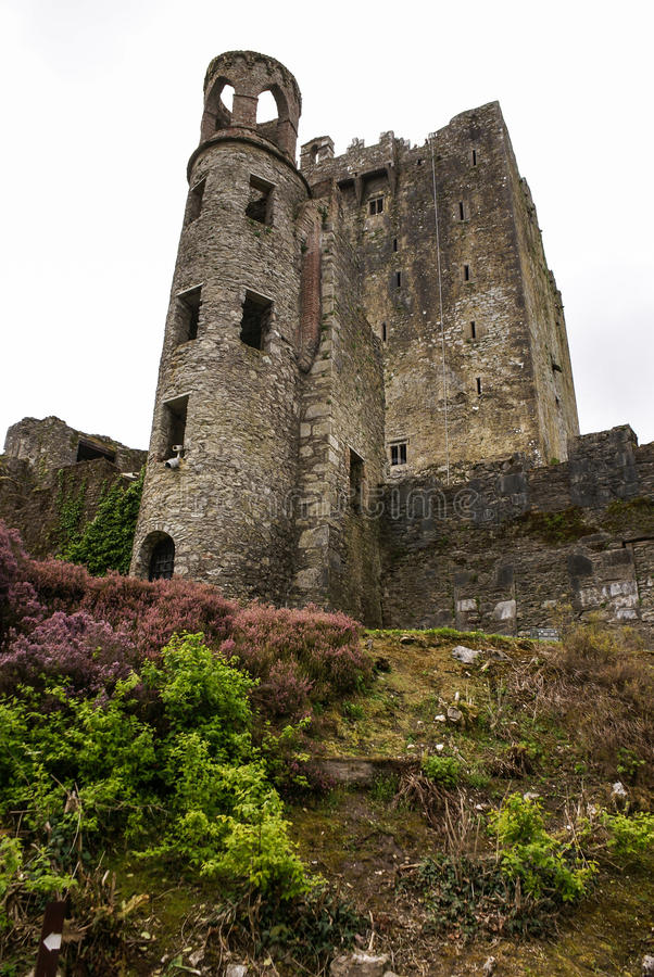 奉承爱尔兰城堡,著名为雄辩石头。怒火 库存照片