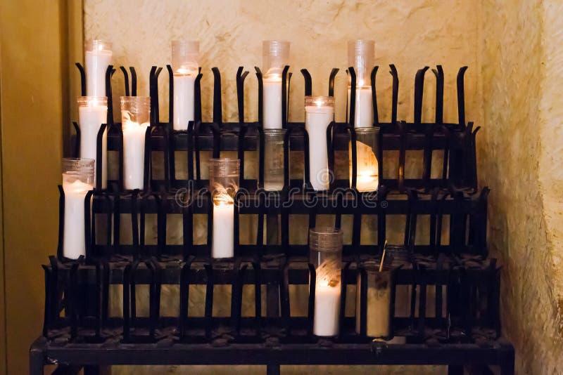 奉献的蜡烛 免版税图库摄影