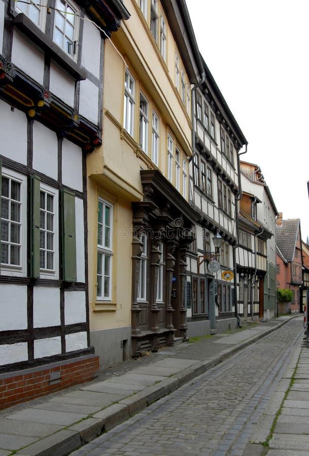 奎德林堡;德语 免版税库存图片