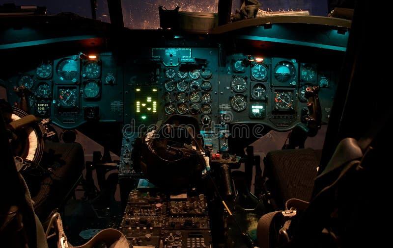 契努克族驾驶舱直升机 免版税库存照片