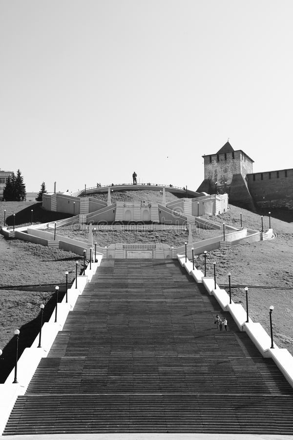 契卡洛夫台阶 库存照片