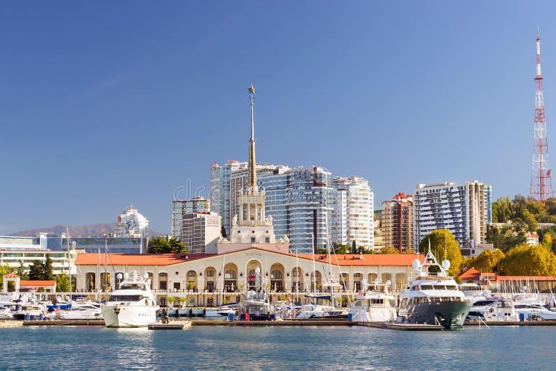 索契海港,俄罗斯 免版税图库摄影