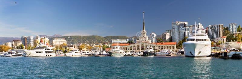 索契海港,俄罗斯 免版税库存图片