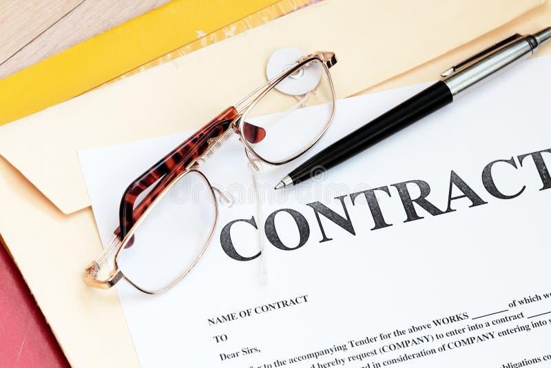 契约法合法的纸张 免版税库存照片