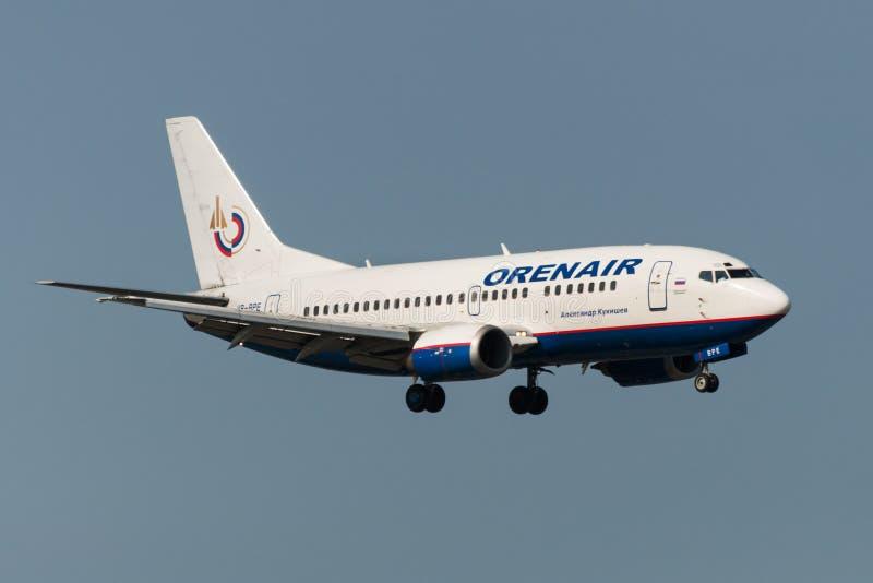 空中客车A320喷气机 库存图片
